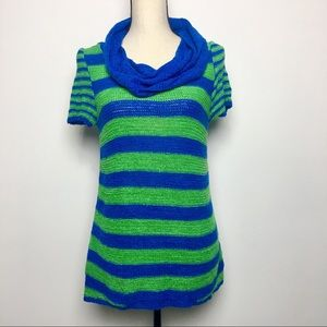 NWT Spense Knits Cowl Neck Short Sleeve Top (S)